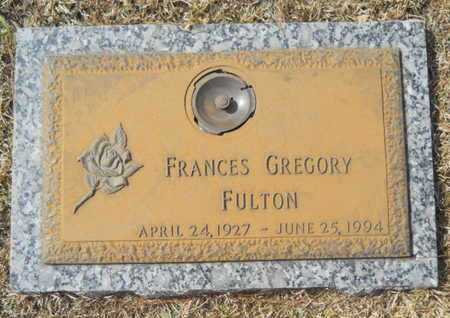 GREGORY FULTON, FRANCES - Lincoln County, Louisiana | FRANCES GREGORY FULTON - Louisiana Gravestone Photos