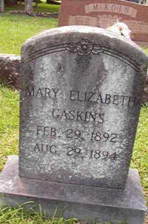 GASKINS, MARY ELIZABETH - Lincoln County, Louisiana | MARY ELIZABETH GASKINS - Louisiana Gravestone Photos