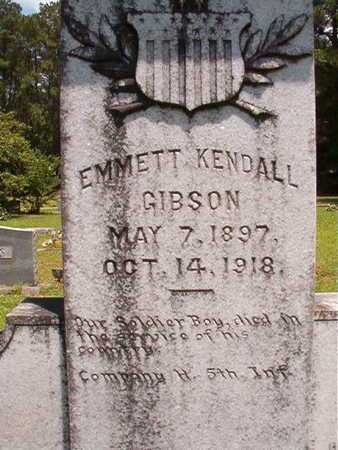 GIBSON, EMMETT KENDALL (CLOSE UP) - Lincoln County, Louisiana | EMMETT KENDALL (CLOSE UP) GIBSON - Louisiana Gravestone Photos