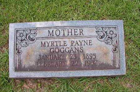 PAYNE GOGGANS, MYRTLE - Lincoln County, Louisiana | MYRTLE PAYNE GOGGANS - Louisiana Gravestone Photos