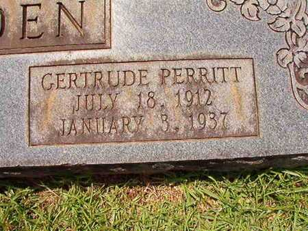 GOLDEN, GERTRUDE (CLOSE UP) - Lincoln County, Louisiana | GERTRUDE (CLOSE UP) GOLDEN - Louisiana Gravestone Photos