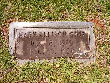GOSS, MARY ALLISON - Lincoln County, Louisiana | MARY ALLISON GOSS - Louisiana Gravestone Photos