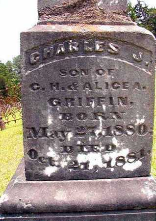 GRIFFIN, CHARLES J (CLOSE UP) - Lincoln County, Louisiana | CHARLES J (CLOSE UP) GRIFFIN - Louisiana Gravestone Photos