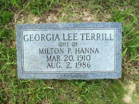 TERRILL HANNA, GEORGIA LEE - Lincoln County, Louisiana | GEORGIA LEE TERRILL HANNA - Louisiana Gravestone Photos