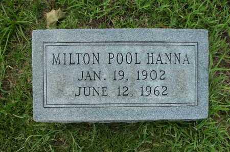 HANNA, MILTON POOL - Lincoln County, Louisiana   MILTON POOL HANNA - Louisiana Gravestone Photos