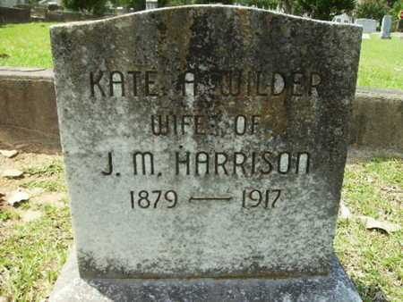 WILDER HARRISON, KATE A - Lincoln County, Louisiana | KATE A WILDER HARRISON - Louisiana Gravestone Photos
