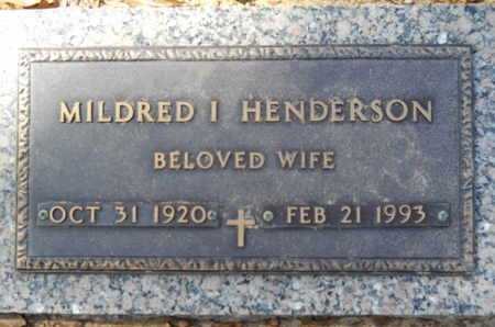 HENDERSON, MILDRED I - Lincoln County, Louisiana | MILDRED I HENDERSON - Louisiana Gravestone Photos