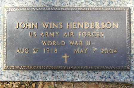 HENDERSON, JOHN WINS (VETERAN WWII) - Lincoln County, Louisiana   JOHN WINS (VETERAN WWII) HENDERSON - Louisiana Gravestone Photos