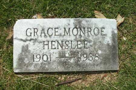 MONROE HENSLEE, GRACE - Lincoln County, Louisiana | GRACE MONROE HENSLEE - Louisiana Gravestone Photos