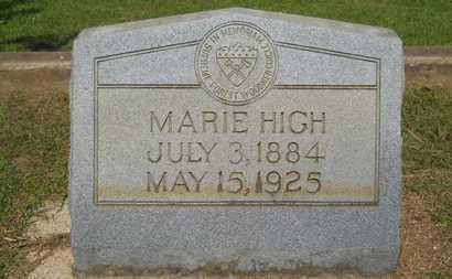 HIGH, MARIE - Lincoln County, Louisiana | MARIE HIGH - Louisiana Gravestone Photos