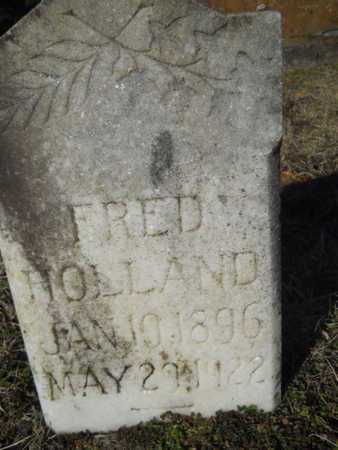 HOLLAND, FRED - Lincoln County, Louisiana | FRED HOLLAND - Louisiana Gravestone Photos