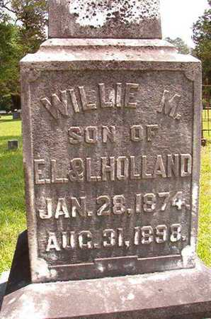 HOLLAND, WILLIE M (CLOSE UP) - Lincoln County, Louisiana | WILLIE M (CLOSE UP) HOLLAND - Louisiana Gravestone Photos