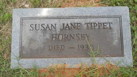 TIPPET HORNSBY, SUSAN JANE - Lincoln County, Louisiana | SUSAN JANE TIPPET HORNSBY - Louisiana Gravestone Photos