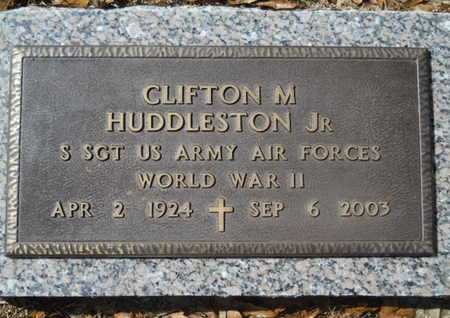 HUDDLESTON, CLIFTON M , JR (VETERAN WWII) - Lincoln County, Louisiana | CLIFTON M , JR (VETERAN WWII) HUDDLESTON - Louisiana Gravestone Photos