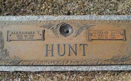DAVIS HUNT, ALVERNE - Lincoln County, Louisiana | ALVERNE DAVIS HUNT - Louisiana Gravestone Photos
