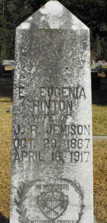 JEMISON, E EUGENIA (CLOSE UP) - Lincoln County, Louisiana | E EUGENIA (CLOSE UP) JEMISON - Louisiana Gravestone Photos