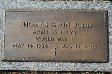 JUDD, THOMAS GWIN (VETERAN WWII) - Lincoln County, Louisiana | THOMAS GWIN (VETERAN WWII) JUDD - Louisiana Gravestone Photos