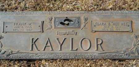 KAYLOR, FRANK W - Lincoln County, Louisiana | FRANK W KAYLOR - Louisiana Gravestone Photos