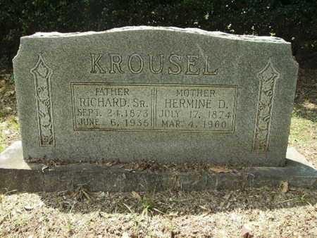 KROUSEL, RICHARD, SR - Lincoln County, Louisiana | RICHARD, SR KROUSEL - Louisiana Gravestone Photos