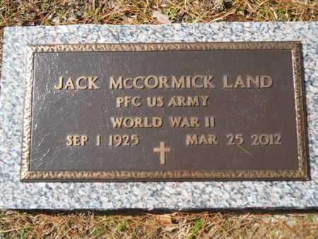 LAND, JACK MCCORMICK (VETERAN WWII) - Lincoln County, Louisiana   JACK MCCORMICK (VETERAN WWII) LAND - Louisiana Gravestone Photos