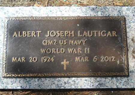 LAUTIGAR, ALBERT JOSEPH (VETERAN WWII) - Lincoln County, Louisiana   ALBERT JOSEPH (VETERAN WWII) LAUTIGAR - Louisiana Gravestone Photos