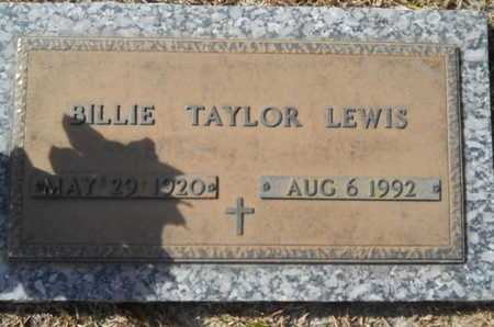 TAYLOR LEWIS, BILLIE - Lincoln County, Louisiana | BILLIE TAYLOR LEWIS - Louisiana Gravestone Photos