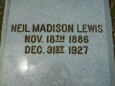 LEWIS, NEIL MADISON - Lincoln County, Louisiana | NEIL MADISON LEWIS - Louisiana Gravestone Photos