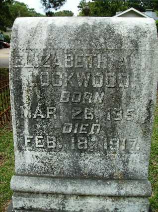 LOCKWOOD, ELIZABETH ANN (CLOSE UP) - Lincoln County, Louisiana   ELIZABETH ANN (CLOSE UP) LOCKWOOD - Louisiana Gravestone Photos