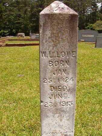 LOVE, WILLIAM LUKER - Lincoln County, Louisiana | WILLIAM LUKER LOVE - Louisiana Gravestone Photos