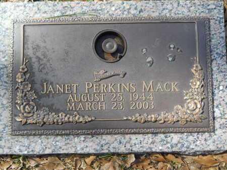MACK, JANET - Lincoln County, Louisiana | JANET MACK - Louisiana Gravestone Photos