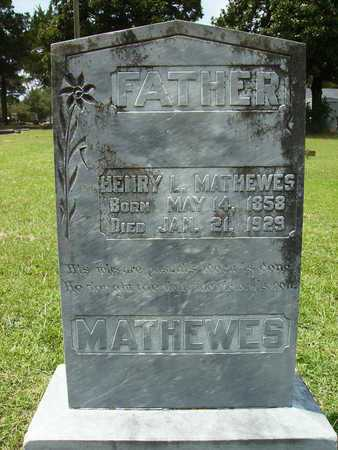 MATHEWES, HENRY L - Lincoln County, Louisiana | HENRY L MATHEWES - Louisiana Gravestone Photos