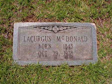 MCDONALD, LACURGUS - Lincoln County, Louisiana | LACURGUS MCDONALD - Louisiana Gravestone Photos