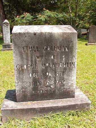 COLEMAN MCLAUGHLIN, ETHEL - Lincoln County, Louisiana | ETHEL COLEMAN MCLAUGHLIN - Louisiana Gravestone Photos
