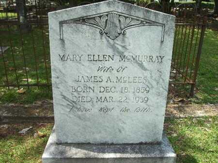 MCLEES, MARY ELLEN - Lincoln County, Louisiana | MARY ELLEN MCLEES - Louisiana Gravestone Photos
