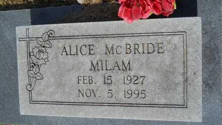 MILAM, ALICE - Lincoln County, Louisiana | ALICE MILAM - Louisiana Gravestone Photos
