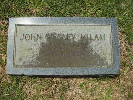 MILAM, JOHN WESLEY - Lincoln County, Louisiana   JOHN WESLEY MILAM - Louisiana Gravestone Photos