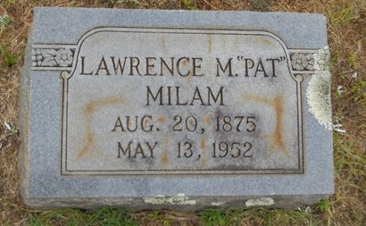 "MILAM, LAWRENCE M ""PAT"" - Lincoln County, Louisiana 