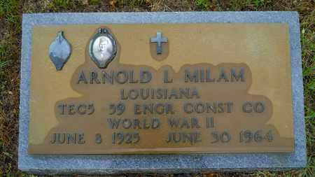 MILAM, ARNOLD LEE (VETERAN WWII) - Lincoln County, Louisiana   ARNOLD LEE (VETERAN WWII) MILAM - Louisiana Gravestone Photos