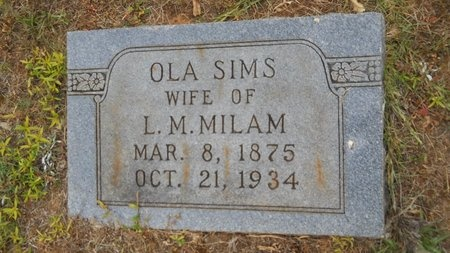 MILAM, OLA - Lincoln County, Louisiana   OLA MILAM - Louisiana Gravestone Photos