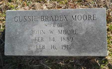 BRADEX MOORE, GUSSIE - Lincoln County, Louisiana | GUSSIE BRADEX MOORE - Louisiana Gravestone Photos