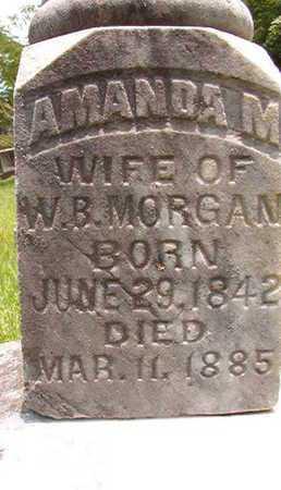 MORGAN, AMANDA M (CLOSE UP) - Lincoln County, Louisiana | AMANDA M (CLOSE UP) MORGAN - Louisiana Gravestone Photos