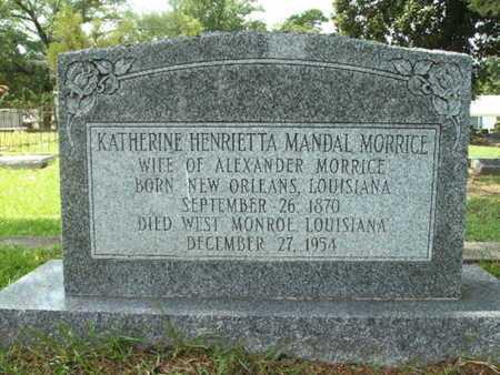 MORRICE, KATHERINE HENRIETTA - Lincoln County, Louisiana   KATHERINE HENRIETTA MORRICE - Louisiana Gravestone Photos