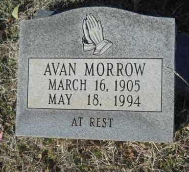 MORROW, AVAN - Lincoln County, Louisiana   AVAN MORROW - Louisiana Gravestone Photos