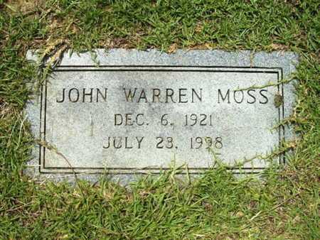 MOSS, JOHN WARREN - Lincoln County, Louisiana | JOHN WARREN MOSS - Louisiana Gravestone Photos