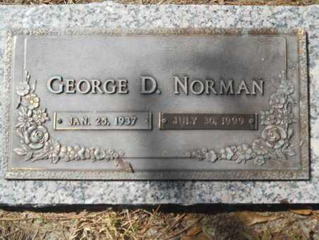 NORMAN, GEORGE D - Lincoln County, Louisiana | GEORGE D NORMAN - Louisiana Gravestone Photos