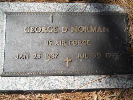 NORMAN, GEORGE D (VETERAN) - Lincoln County, Louisiana | GEORGE D (VETERAN) NORMAN - Louisiana Gravestone Photos