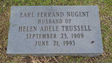 NUGENT, EARL FERRAND - Lincoln County, Louisiana | EARL FERRAND NUGENT - Louisiana Gravestone Photos