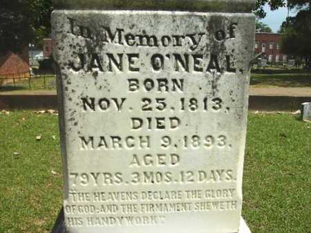 O'NEAL, JANE (CLOSE UP) - Lincoln County, Louisiana | JANE (CLOSE UP) O'NEAL - Louisiana Gravestone Photos