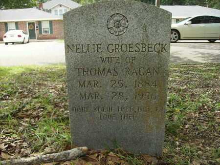 GROESBECK RAGAN, NELLIE - Lincoln County, Louisiana | NELLIE GROESBECK RAGAN - Louisiana Gravestone Photos