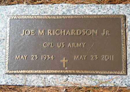 RICHARDSON, JOE M, JR (VETERAN) - Lincoln County, Louisiana | JOE M, JR (VETERAN) RICHARDSON - Louisiana Gravestone Photos